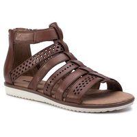 Clarks Sandały - kele lotus 261335814 tan leather