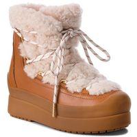 Buty TORY BURCH - Courtney 60Mm Shearling Boot 50059 Natural/Tan 276, kolor brązowy