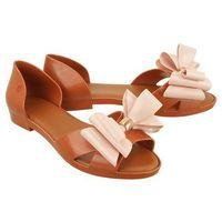 MELISSA 31920 SEDUCTION II AD 50524 brown/light pink, sandały damskie - Brązowy, kolor brązowy