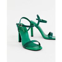 barely there heeled sandals in green - green marki River island