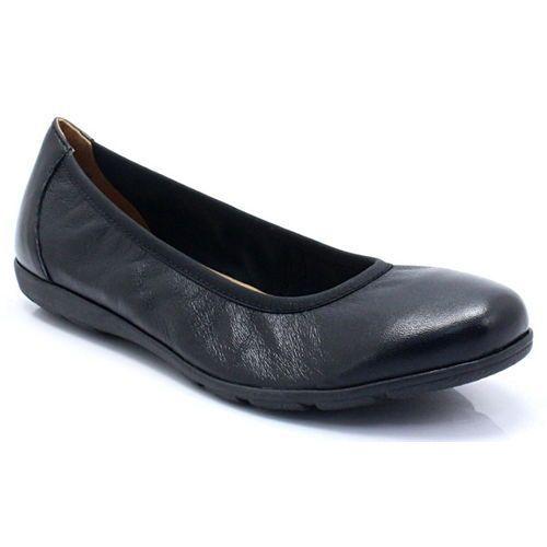 Caprice 9-22150-21 czarne - wygodne balerinki
