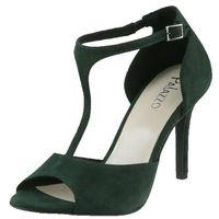 Sandały Mateo 210 - Zielony zamsz B208, kolor zielony