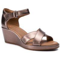 Sandały CLARKS - Un Plaza Cross 261423084 Pebble Metalic