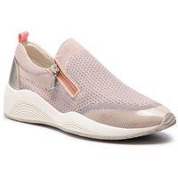 Sneakersy GEOX - D Omaya C D820SC 06KNF CA51N Skin/Lt Silver, kolor różowy