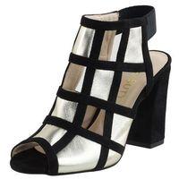 Sandały letnie złoty słupek nubukowa/ zamszowa/ welurowa marki Vogue carla
