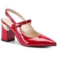 Sandały SAGAN - 4028 Czerwony Lakier