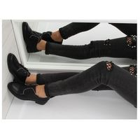 Półbuty damskie sznurowane czarne NC190 BLACK 40, 1 rozmiar