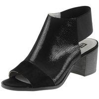 Sandały Nessi 80706 - Czarne lizzaro