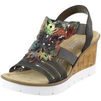 Sandały v5536-45 ciemny brąz marki Rieker