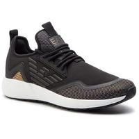 Sneakersy - x8x030 xk053 00482 black/gold metal, Ea7 emporio armani, 38-42
