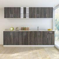 Vidaxl zestaw szafek kuchennych 8 sztuk z częścią na zlew w kolorze wenge