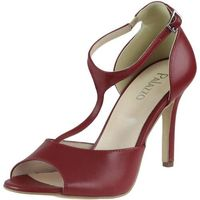 Sandały Mateo 210 - Czerwone lico BR 64