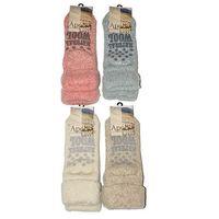 Skarpety apollo art. 24356 wełna abs women rozmiar: 39-42, kolor: biały, risocks marki Risocks