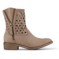 Buty za kostkę botki damskie ARNALDO TOSCANI - 3277100-34, kolor beżowy