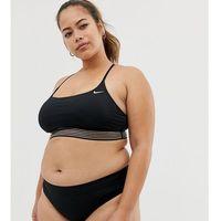 curve cross back crop bikini top in black - black, Nike