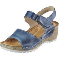 Sandały Wasak 0474 - Jeans, kolor niebieski