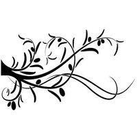 Szablon malarski flora 350 - Gałązka oliwna
