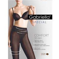 Rajstopy comfort 50 den 400 4-l, czarny/nero. gabriella, 2-s, 3-m, 4-l marki Gabriella