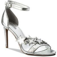 Sandały MICHAEL MICHAEL KORS - Lexie Sandal 40R8LXHA2M Silver, kolor szary