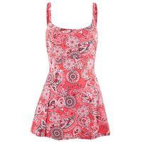 Sukienka kąpielowa wyszczuplająca czerwono- biały, Bonprix, L-XXL
