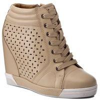 Sneakersy - bridget 28372-01-03 beżowy marki Kazar