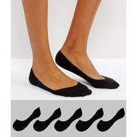 5 pack pop socks - black, Asos design