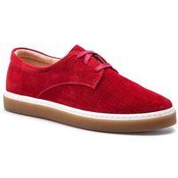 Sneakersy - 11045/1 czerwony welur, Baldaccini, 37-39