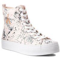 Sneakersy jeans - zazah splattered re9792 pink marki Calvin klein