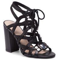 Sandały GUESS - Karlie FL6RLI LEA03 BLACK, w 9 rozmiarach