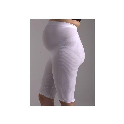 Boxer pre-maman (3-7 m-c) szorty-majtki z nanosrebrem z pasywnym masażem antycellulitowym dla kobiet w ciąży: białe, beżowe - czsalus, Czsalus (włochy)