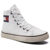 Sneakersy - hightop tommy jeans sneaker en0en00589 white 100 marki Tommy jeans