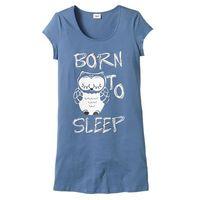 Koszula nocna bonprix niebieski - sowa, kolor niebieski