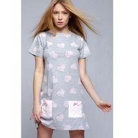 Sensis Koszula nocna model isidora grey/pink