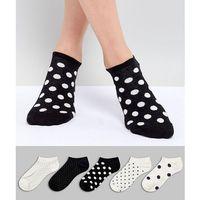 5 pack trainer socks polka dot printed - cream, Oysho
