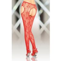 crotchless tights 5505 - red marki Softline collection
