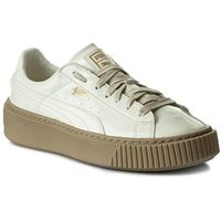 Puma Sneakersy - basket platform patent wn's 363314 05 marshmallow/marshmallow