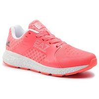 Sneakersy EA7 EMPORIO ARMANI - X8X011 XK044 00155 Fluo Coral, w 3 rozmiarach