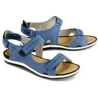 d52r6a sandal vega a c4j9b denim/black, sandały damskie - niebieski marki Geox