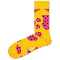 cow 2014 skarpetki różowy żółty 36-40, Happy socks