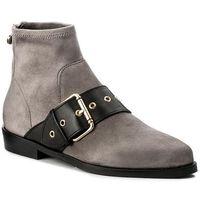 Botki TOMMY HILFIGER - Gigi Hadid Flat Boot FW0FW02202 Light Grey 023, kolor szary