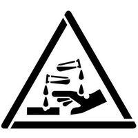 Szablon do malowania znak ostrzeżenie przed substancjami żrącymi gw023 - 17x20 cm marki Szabloneria