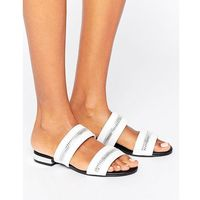 Missguided Zip Trim Sandal - White