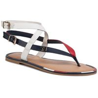 Tommy hilfiger Sandały - iconic flat strappy sandal fw0fw048730 rwb okp
