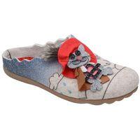 Manitu Kapcie 320570-8 beige puss in boots pantofle domowe ciapy - beżowy ||multikolor