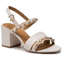Sandały TORY BURCH - Emmy 65mm Pearl Sandal 55043 Linen White 157, kolor biały