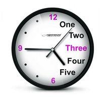 Esperanza  zegar ścienny prague czarny darmowa dostawa do 400 salonów !! (5901299929926)