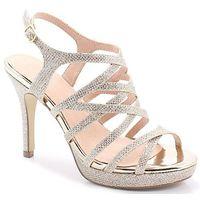 Menbur 20222 złote - buty ślubne z podsuwką - złoty
