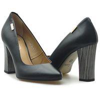Czółenka Kordel 1075 Czarne 014 licowe, kolor czarny