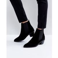 H by Hudson Suede Ankle Boots - Black, ankle