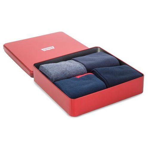 Zestaw 4 par wysokich skarpet unisex LEVI'S - 983032001 516, kolor niebieski